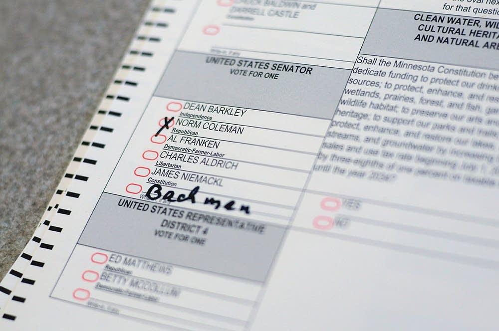 A challenged ballot