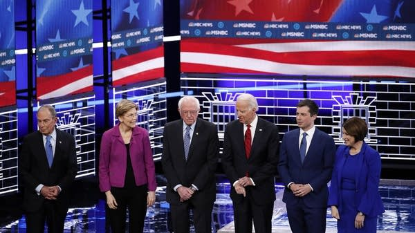 Six Democratic presidential candidates on stage for the ninth debate.
