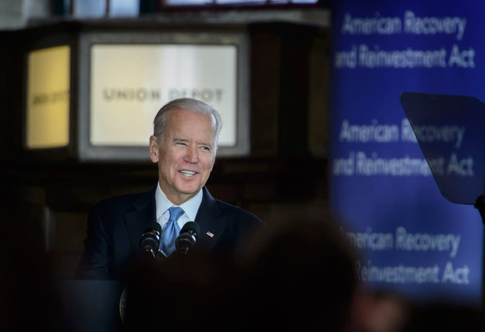 Biden at the Union Depot in St. Paul