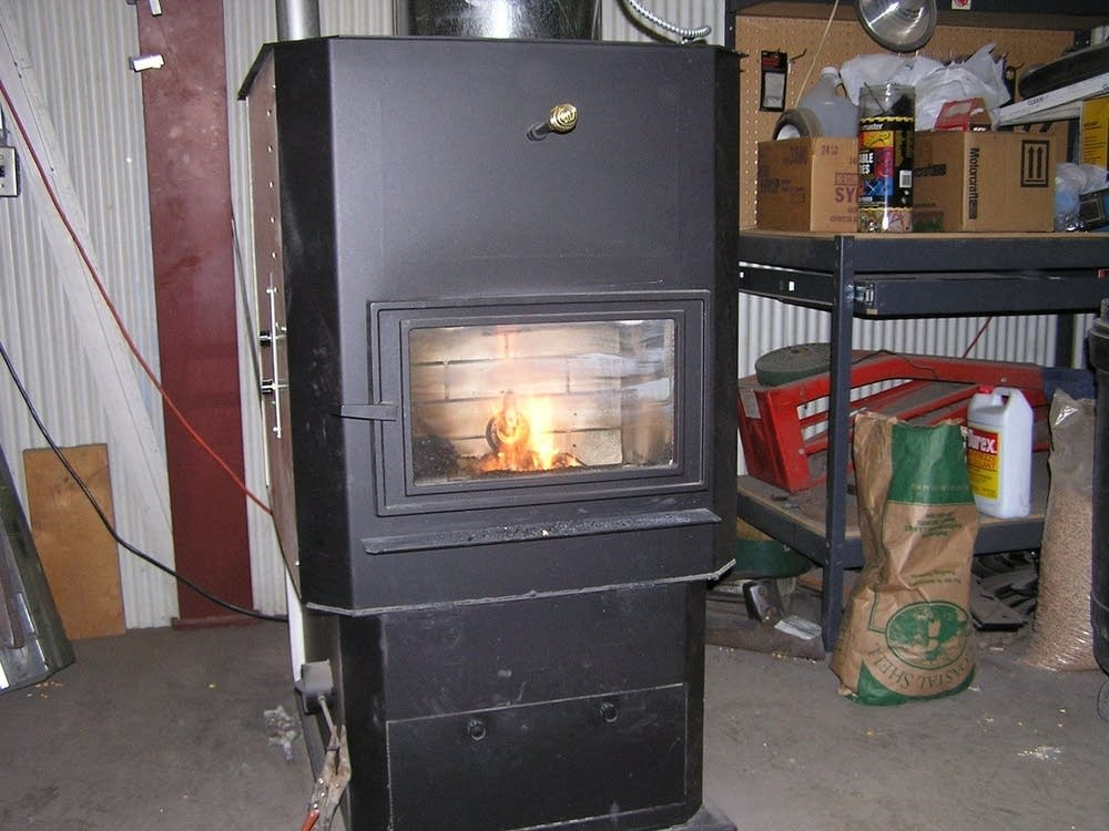 A corn burning furnace