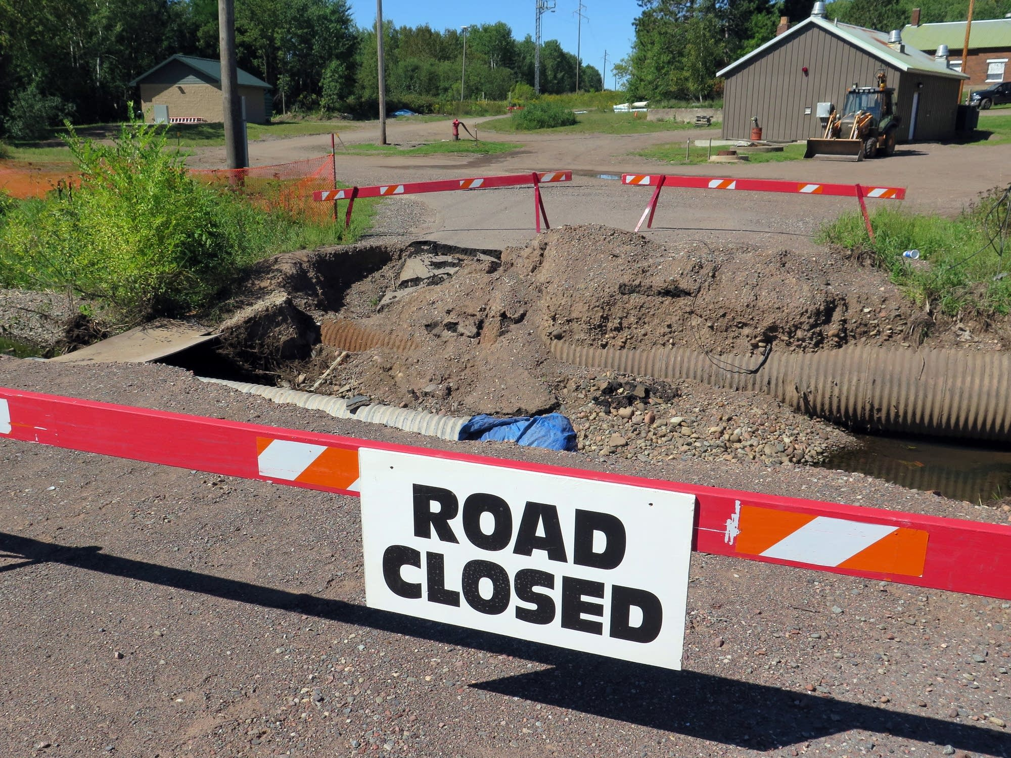 Floods in July wiped out a road in Moose Lake.