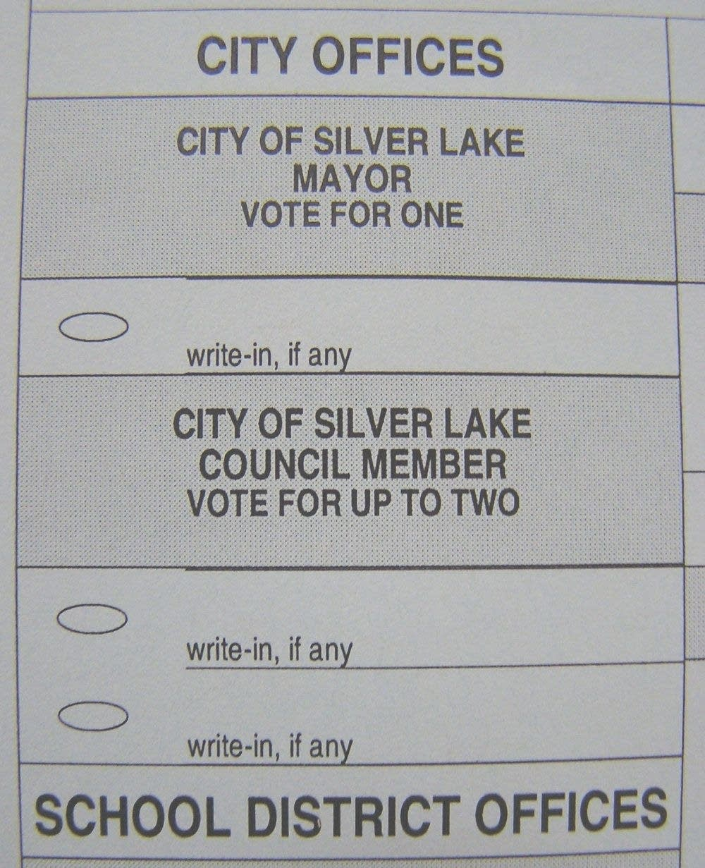 Silver Lake's ballot