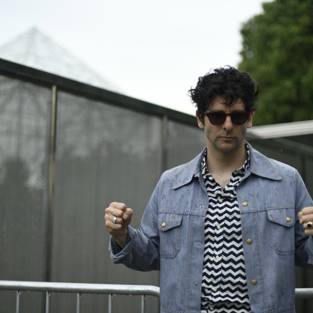 Adam Weiner of Low Cut Connie backstage at Rock the Garden