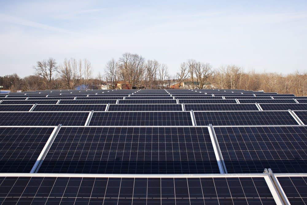 Solar panels in Pelican Rapids