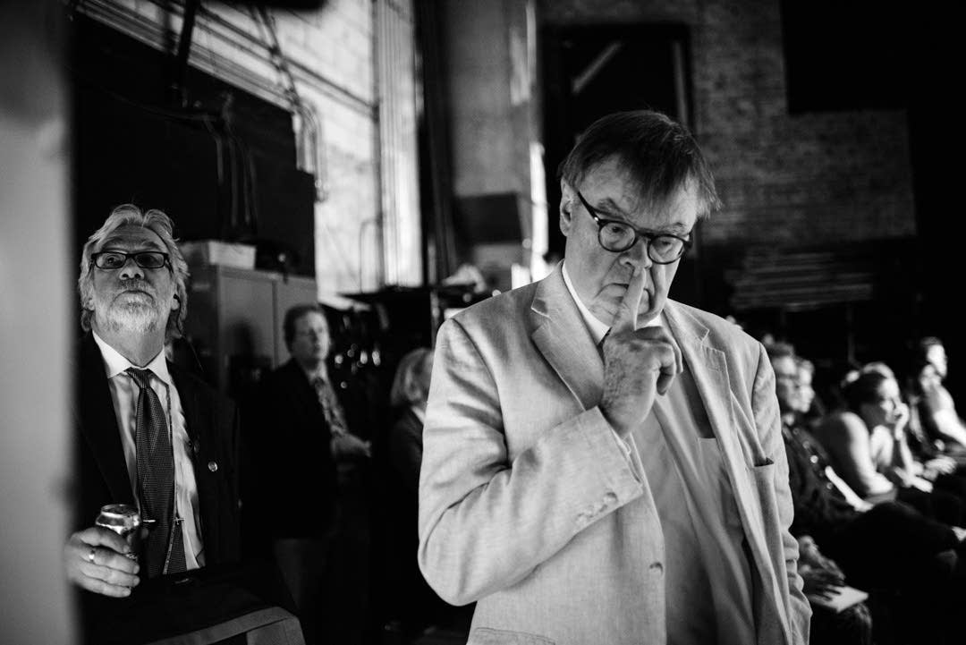 Dan Rowles and Garrison Keillor at the Fitzgerald.
