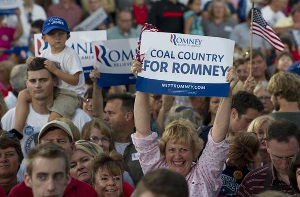 Romney supporters in Ohio