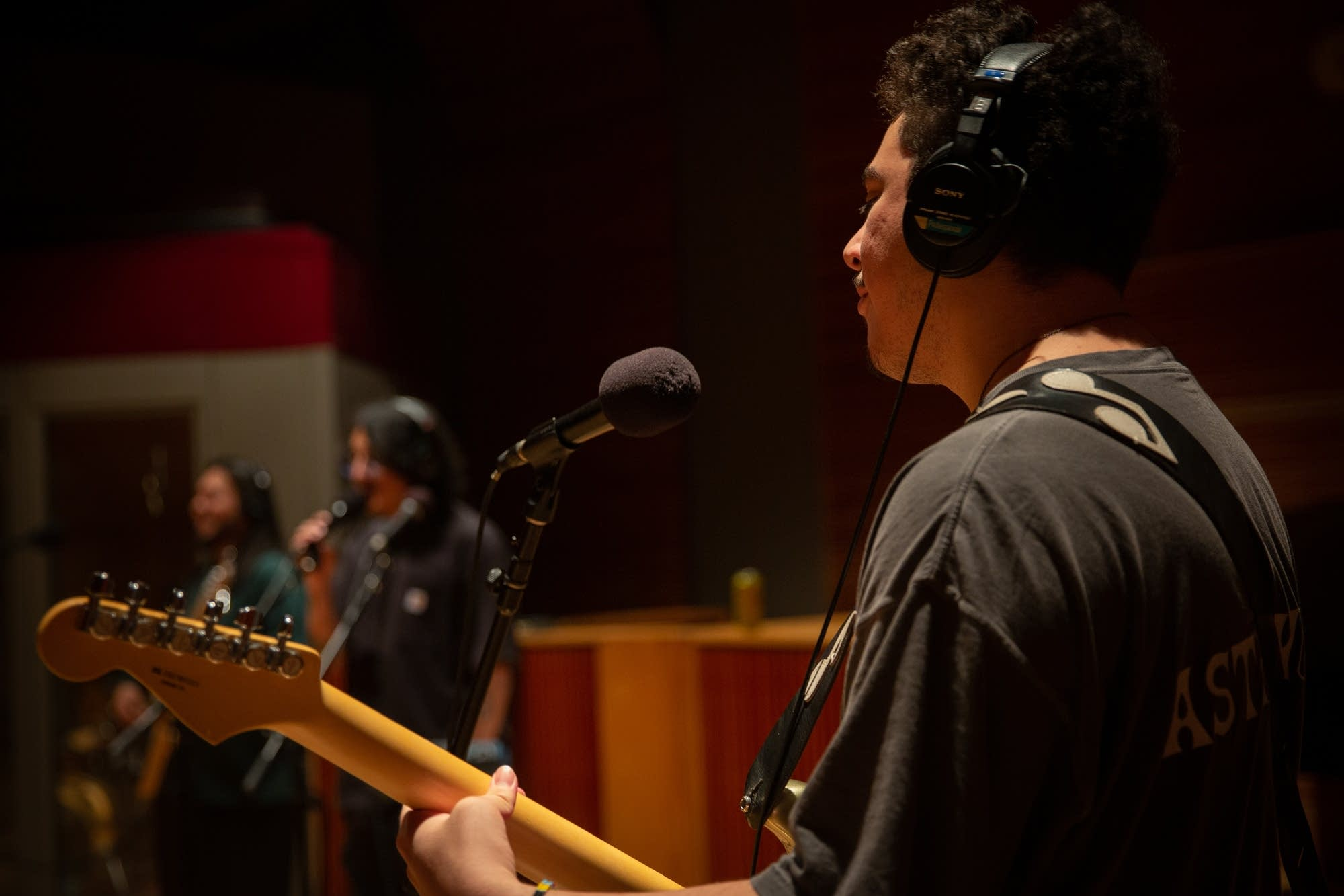 Cuco performs in The Current studio