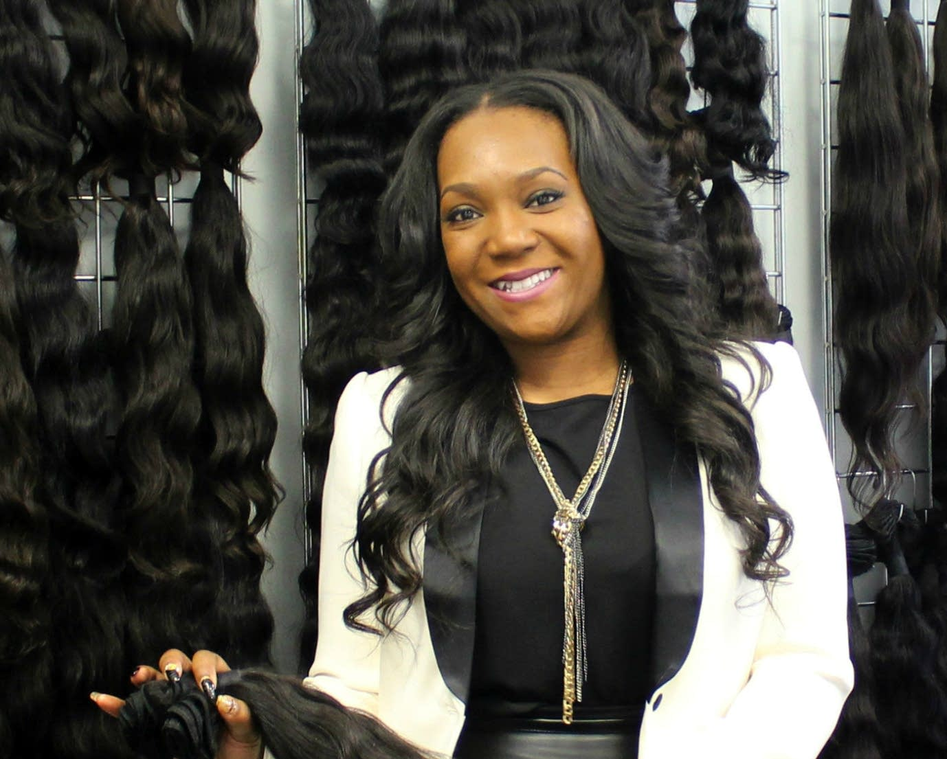Ebony Dickerson, owner of Le Chic SBS, in her Roseville showroom.