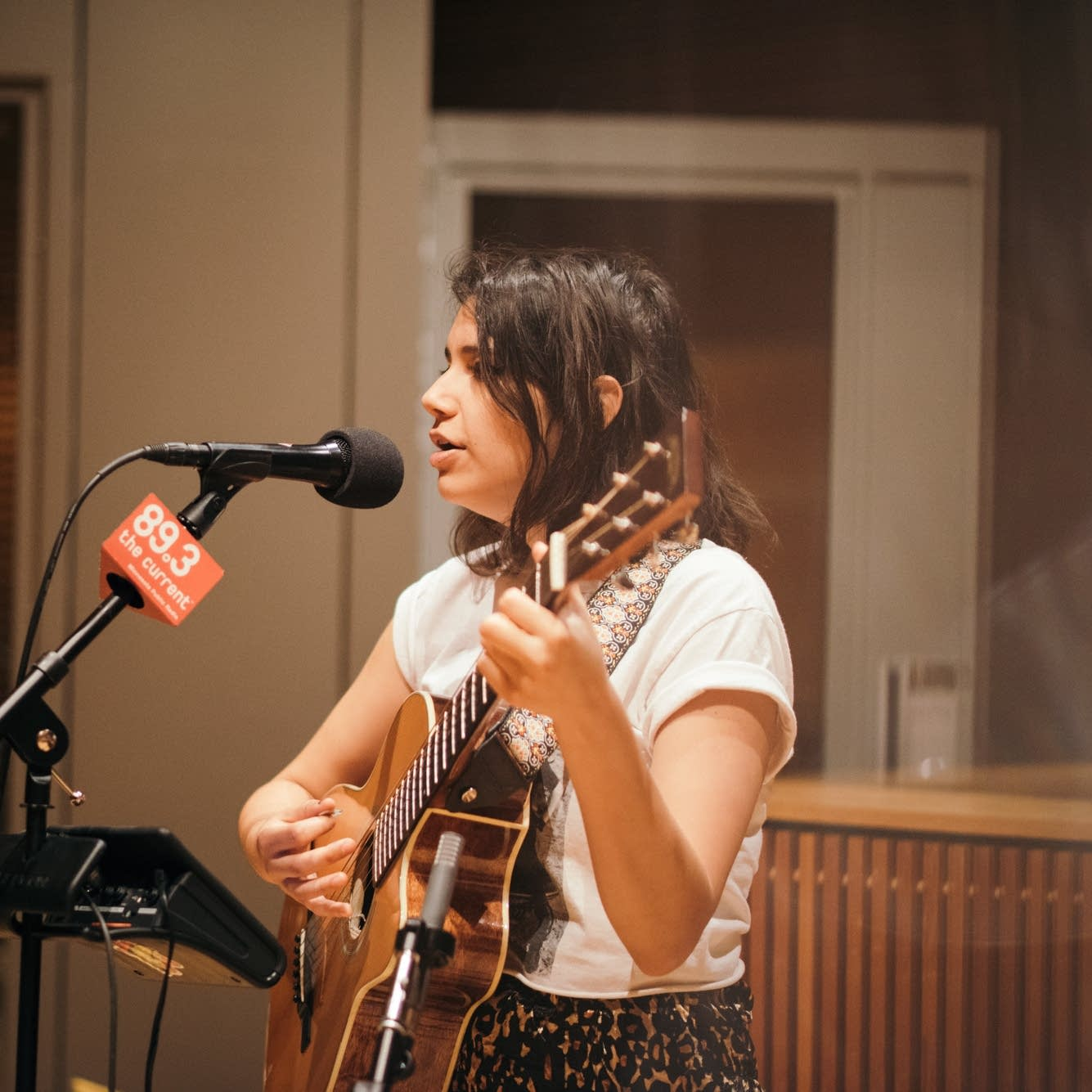 Angelica Garcia performs in The Current studio