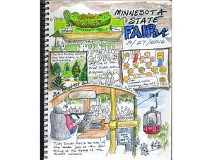 A Minnesota State Fair montage