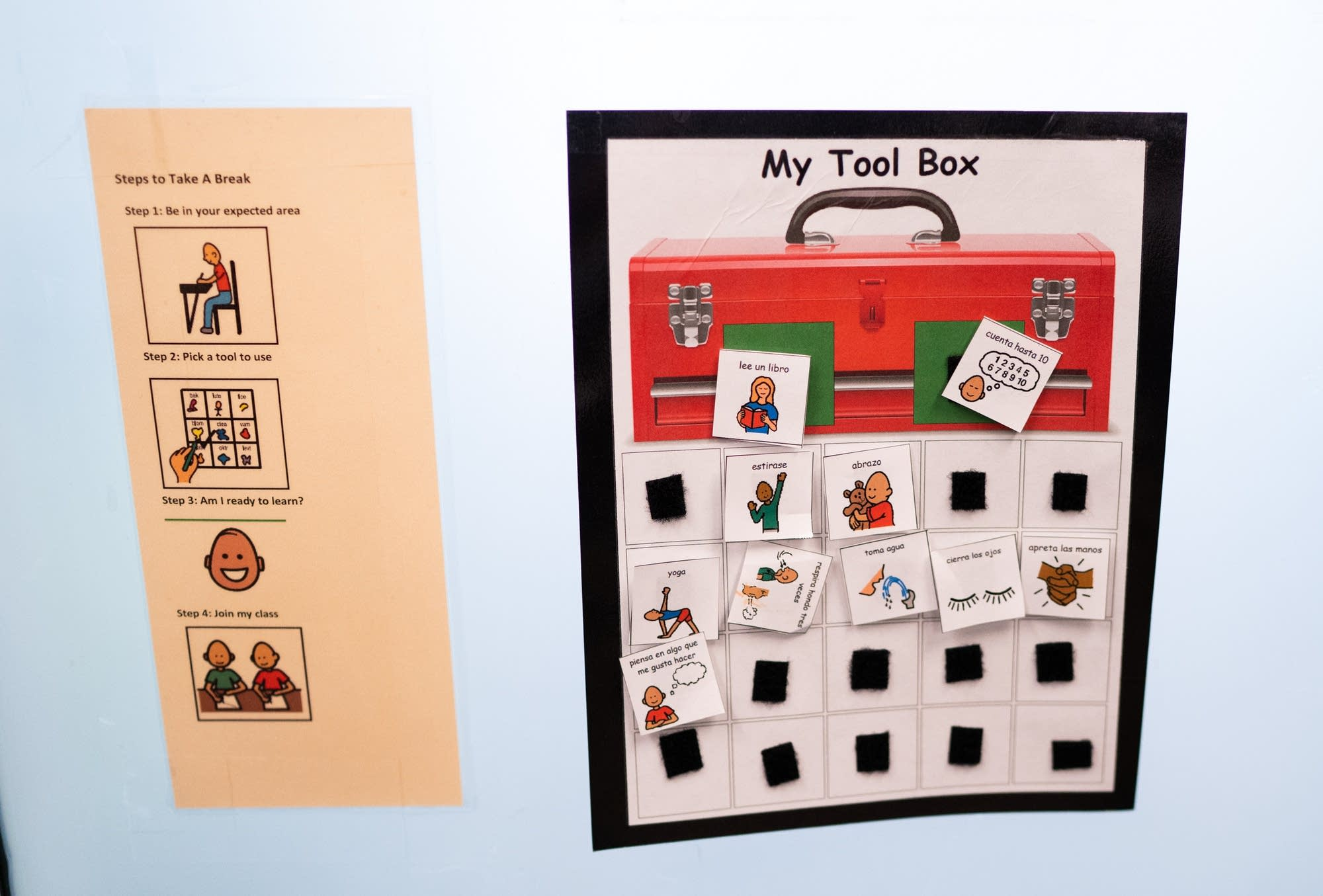 """A """"tool box"""" of methods kids can use to calm themselves."""