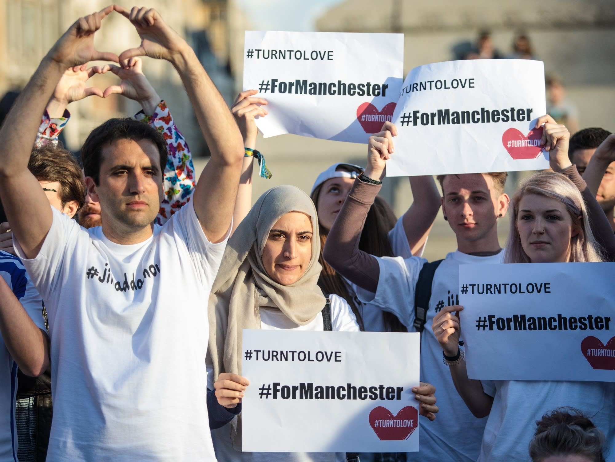 A vigil in Manchester, England on May 23, 2017
