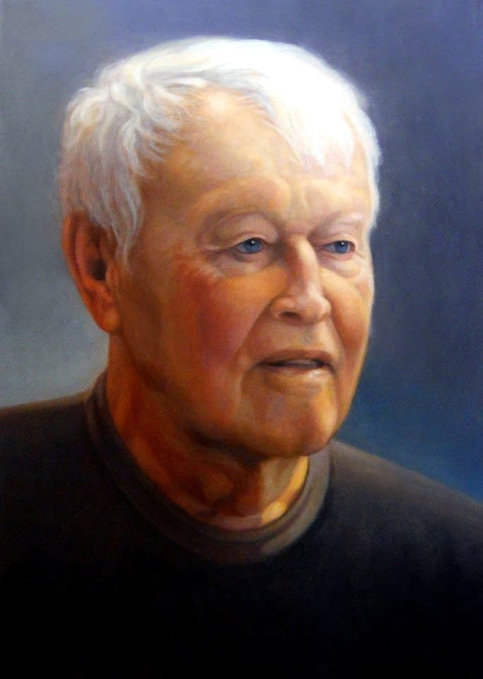 Portrait of Charles Beck, painted by Scott Gunvaldson.