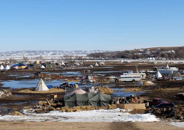 The Oceti Sakowin camp near Cannon Ball, North Dakota on Tuesday.