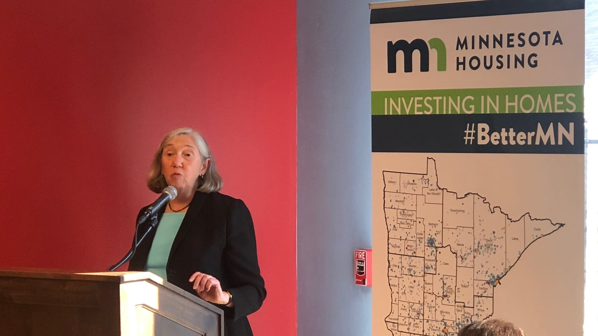 Mary Tingerthal announced new affordable housing funding