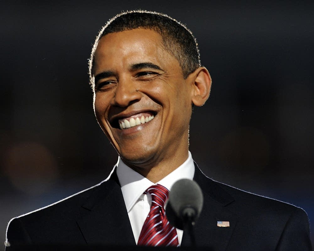 Democratic Presidential candidate Barack Obama