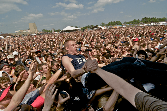 Macklemore takes on the crowd at Soundset 2012