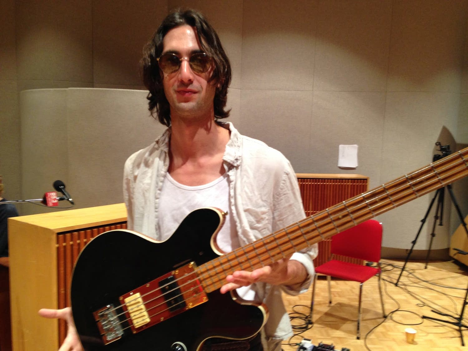 Wylie Gelber and his Model 2 bass