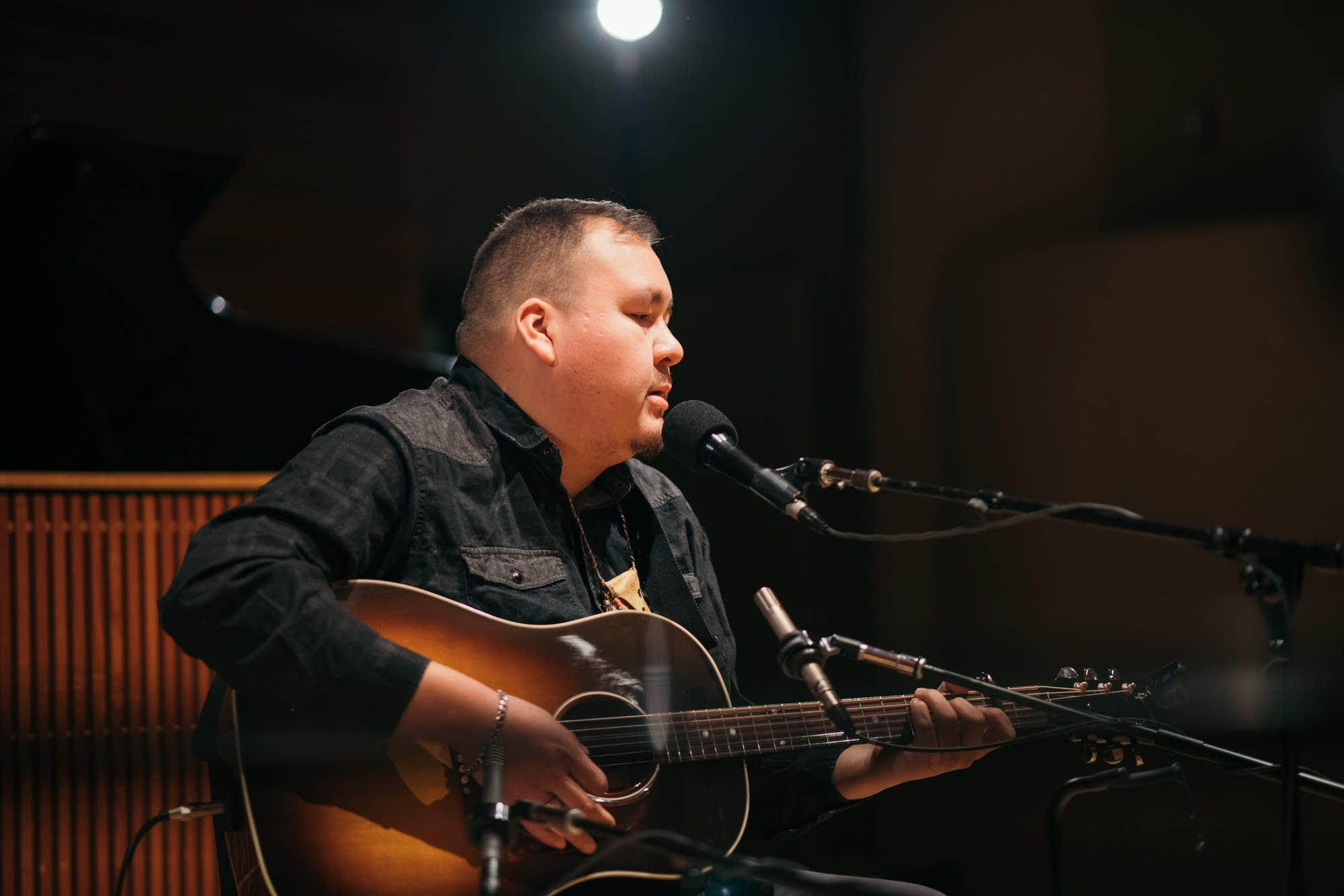 William Prince performs in The Current studio