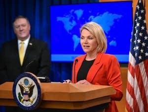 U.S. State Department spokesperson Heather Nauert