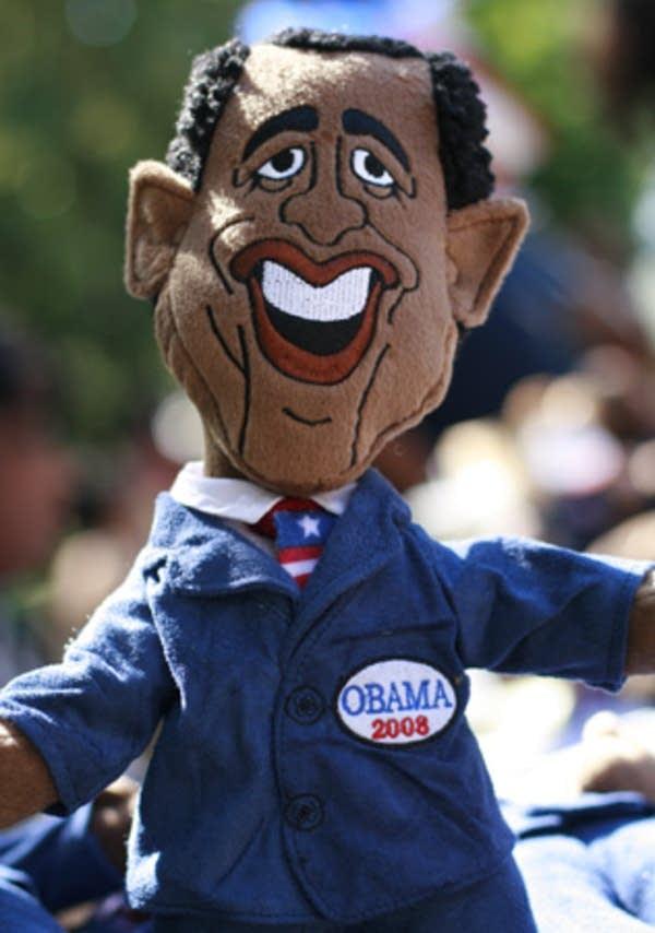 A Barack Obama doll