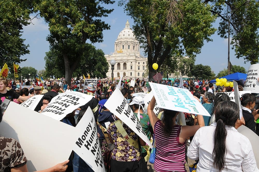 Protesters at the Minnesota State Capitol