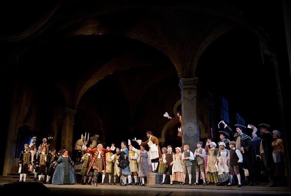 scene Strauss chorus Der Rosenkavalier