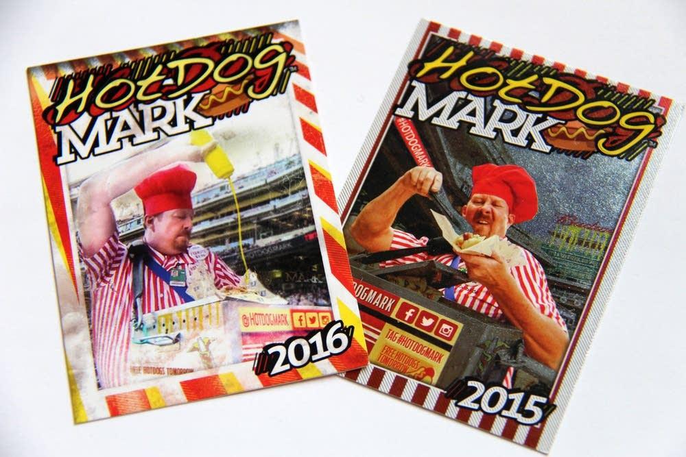 Hot Dog Mark trading cards