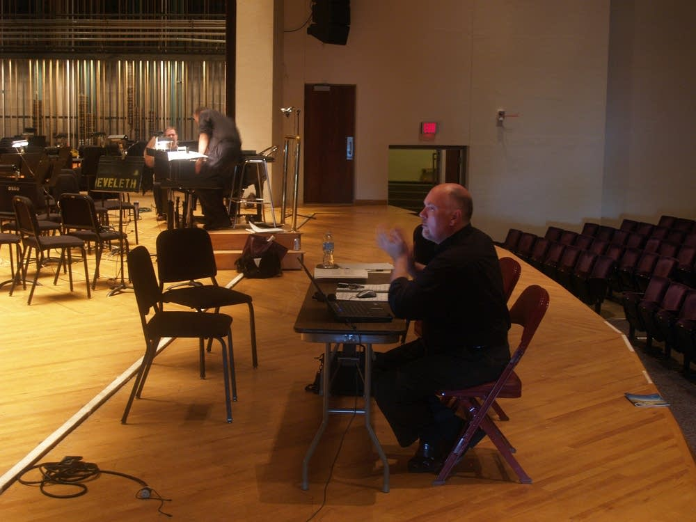 Director Craig Fields rehearses with his cast