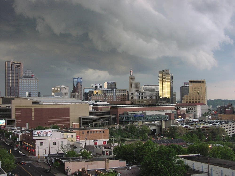 St. Paul storm clouds