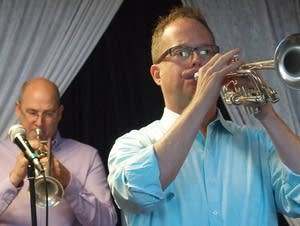 Minnesota Orchestra trumpeters Doug Carlson and Charles Lazarus.