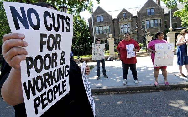 Budget demonstrators
