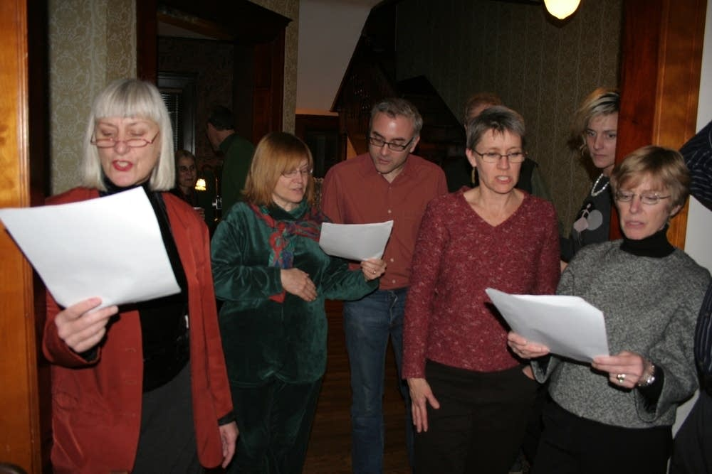 Caroling in the parlor