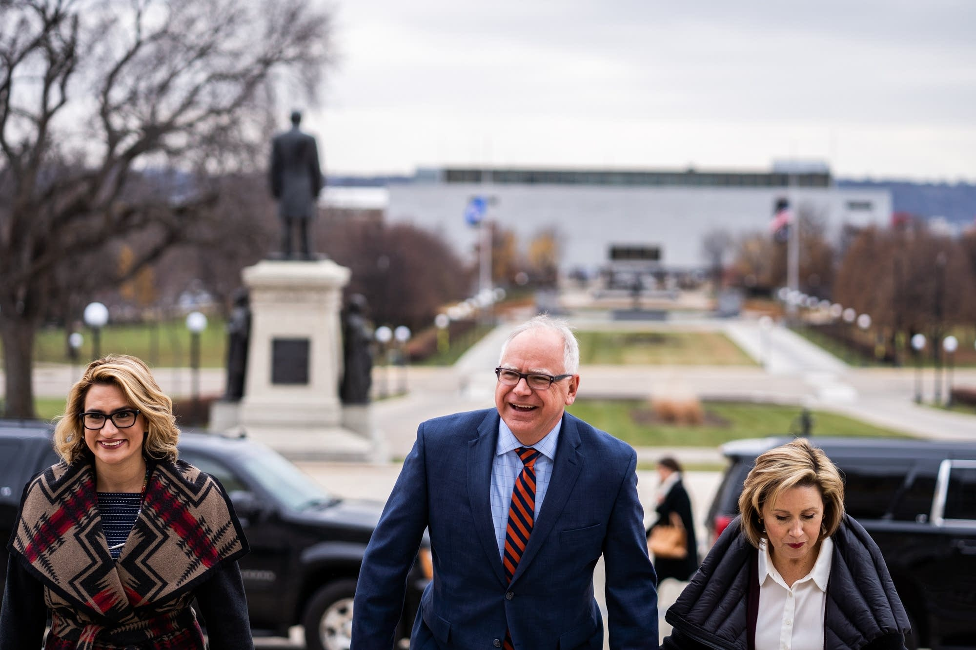 Lt. Governor-elect Peggy Flanagan, Governor-elect Tim Walz and Gwen Walz.