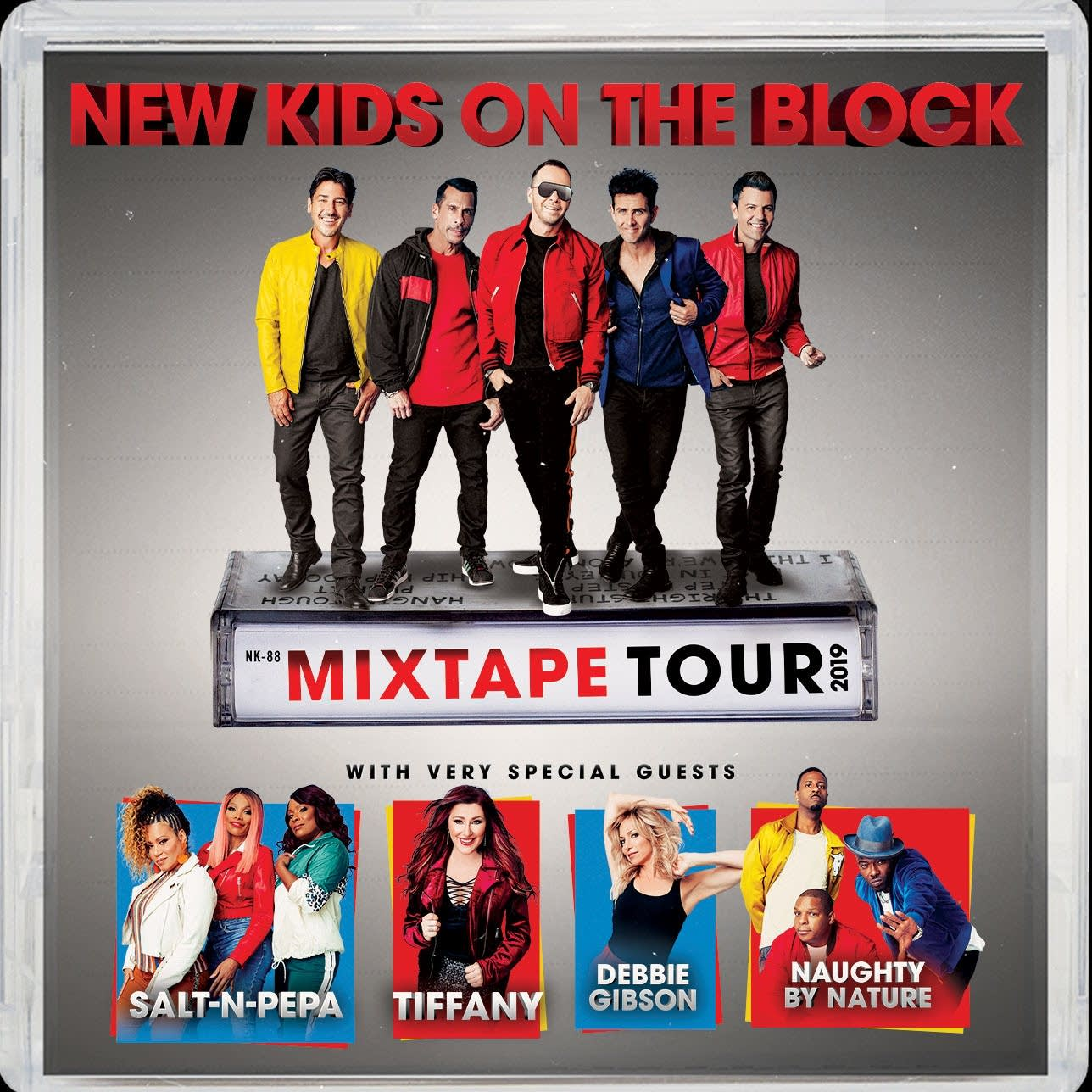 New Kids on the Block Mixtape Tour Poster