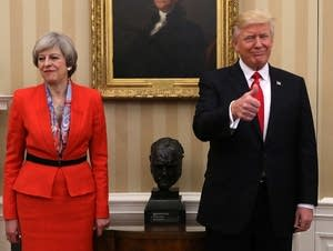 President Trump Meets With British PM Theresa May At The White House