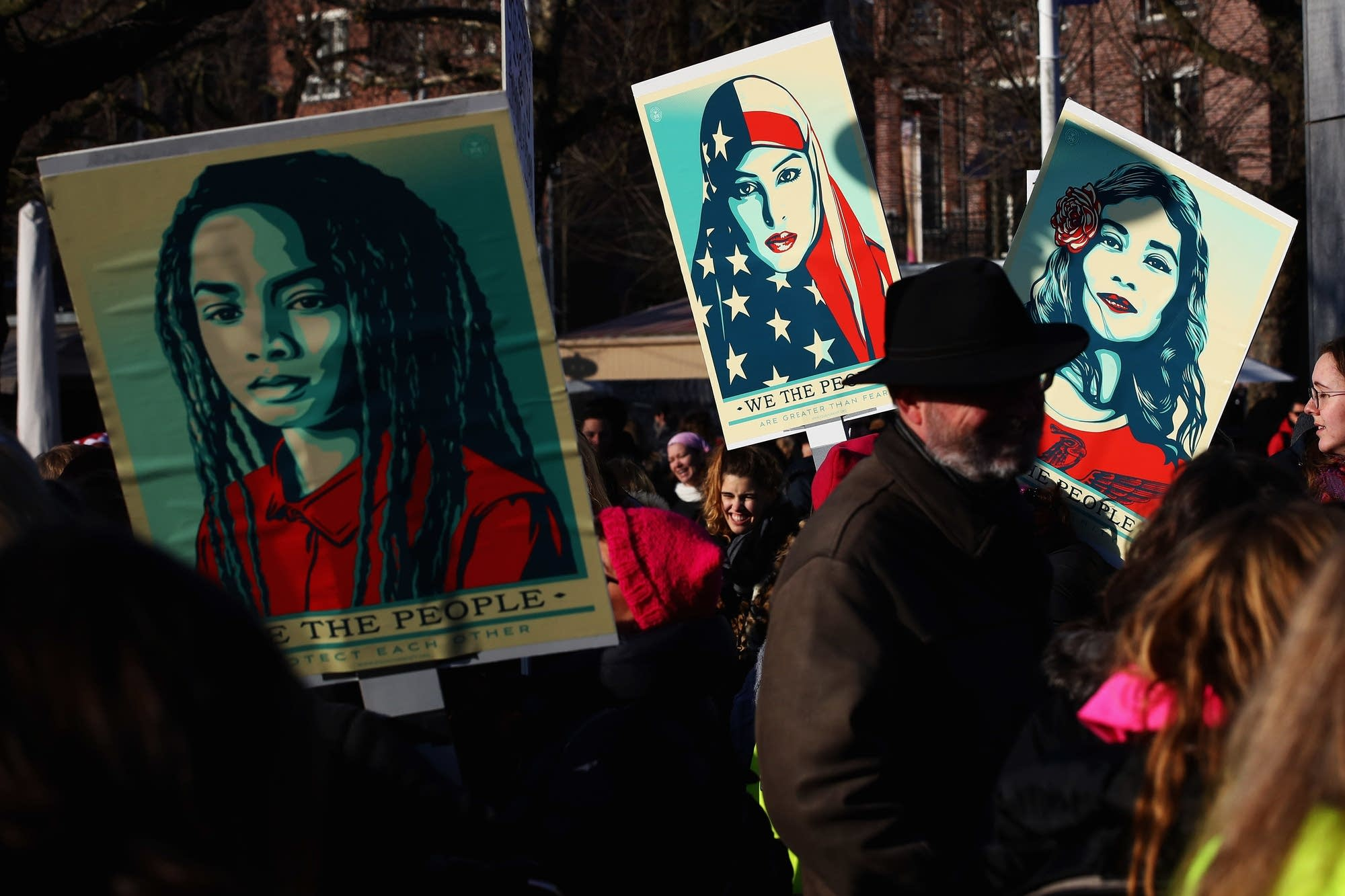 Amsterdam, Netherlands: Womens' March held at Museumplein.