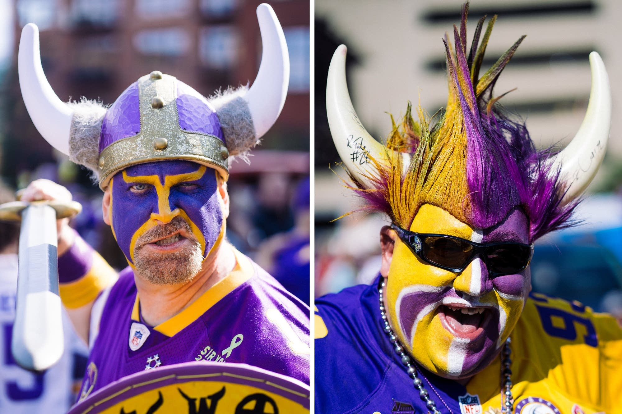 Photos Superfans With Flair At Vikings Opener Mpr News