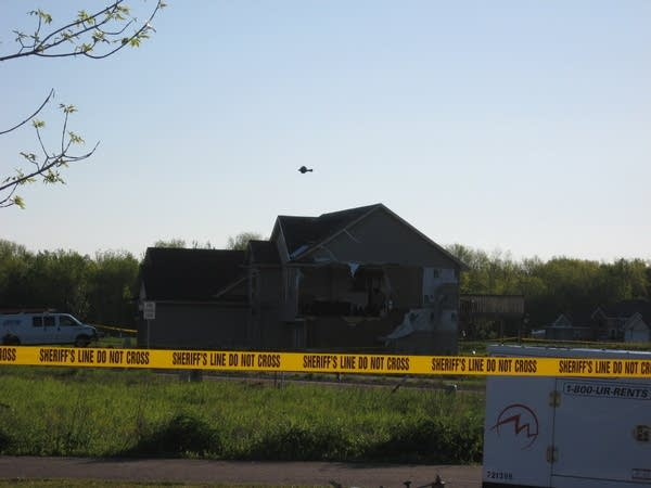 House with side ripped off