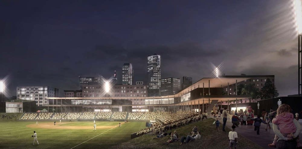 New Lowertown Ballpark rendering