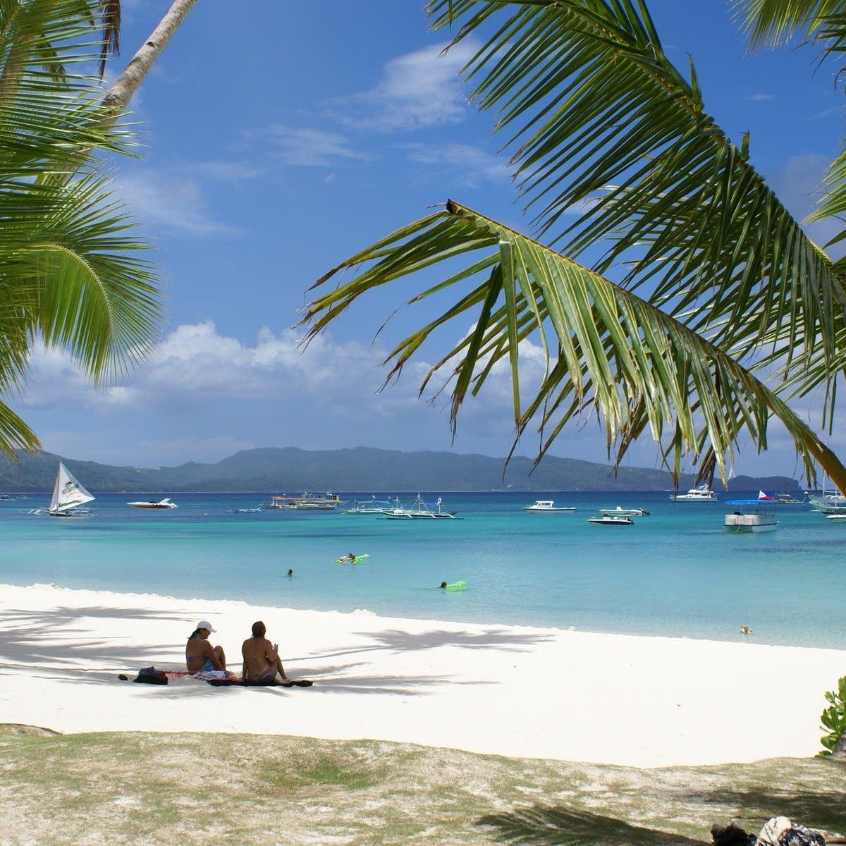 Beach vacation scene