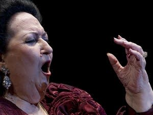 Soprano Montserrat Caballe sings in Marbella, Spain, in 2012.