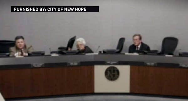 Screenshot of council meeting video