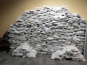 The State Patrol found nearly 600 pounds of pot in Fergus Falls last March.