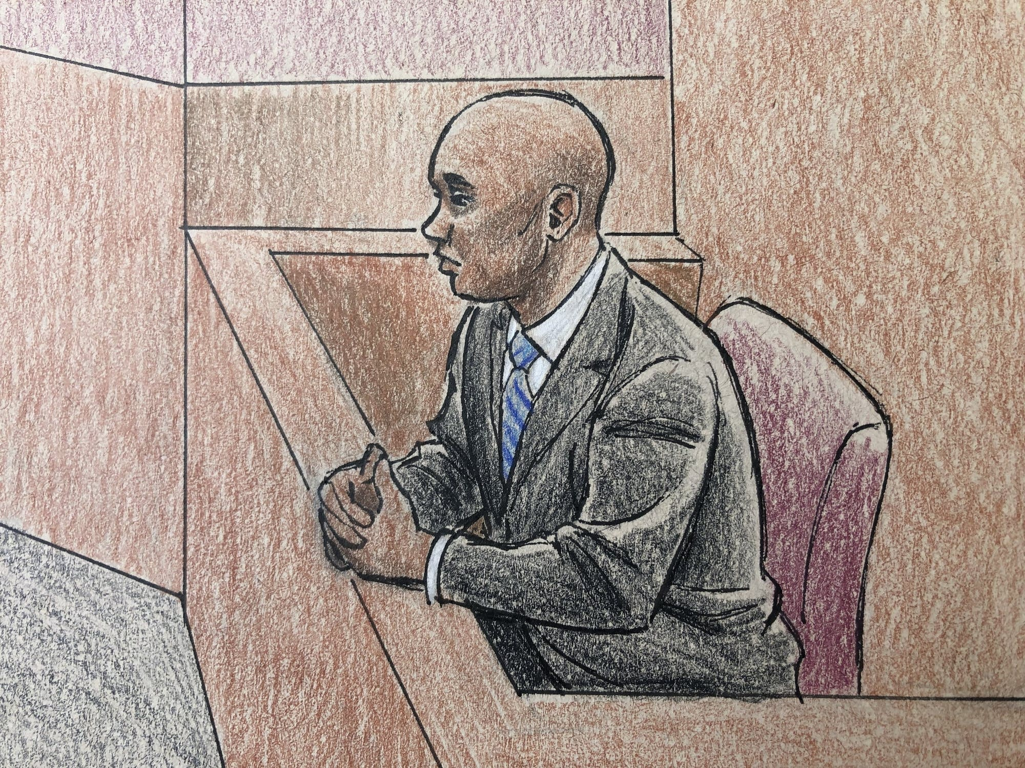 Former Minneapolis police officer Noor during his trial on April 26.