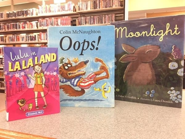 The Platteville Library display