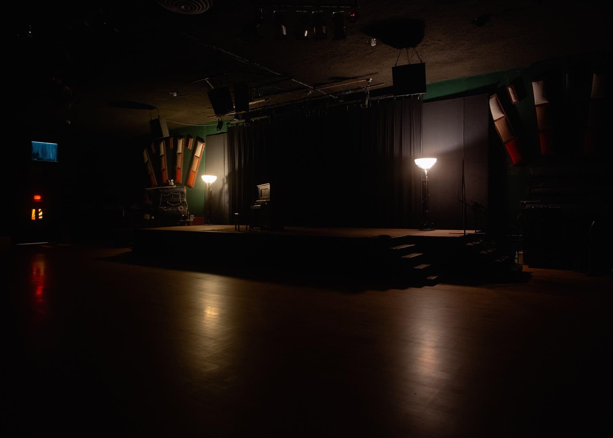 The empty interior of the Cedar Cultural Center in Minneapolis
