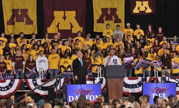 Barack Obama, Mark Dayton