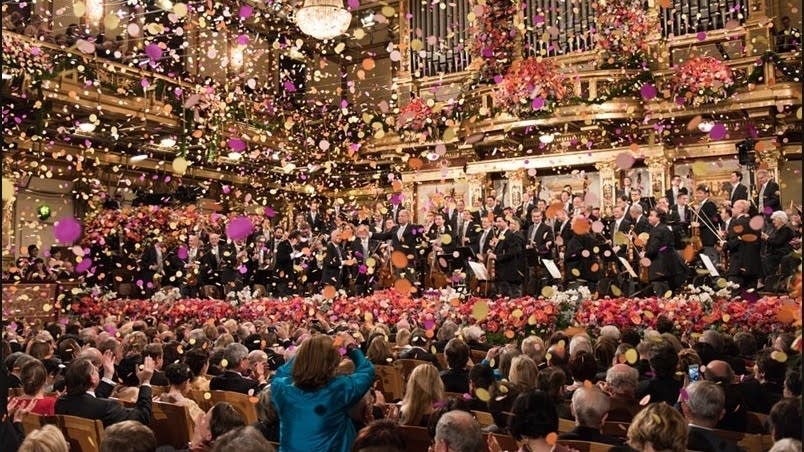 The Vienna Philharmonic performs on New Years in 2015