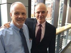 Terry Olson with attorney David Schultz